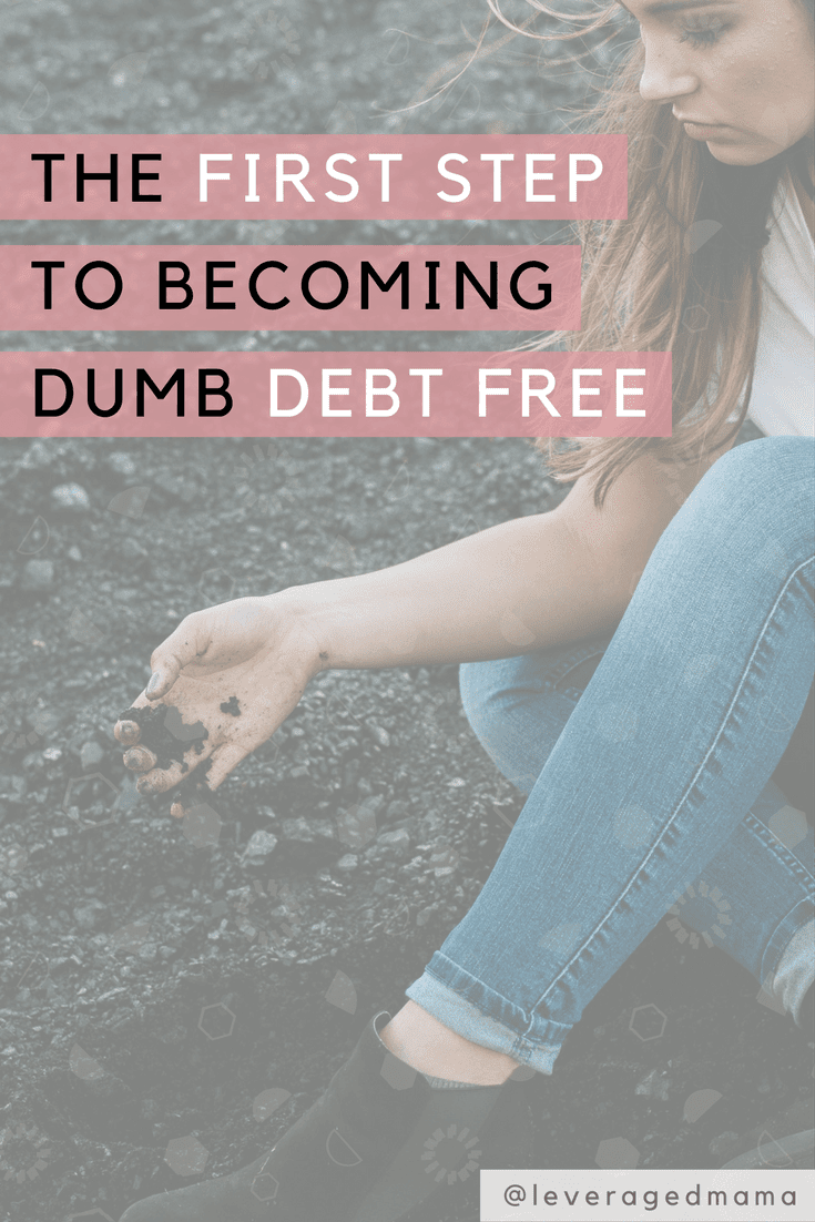The very first step to becoming dumb debt free. The Leveraged Mama.