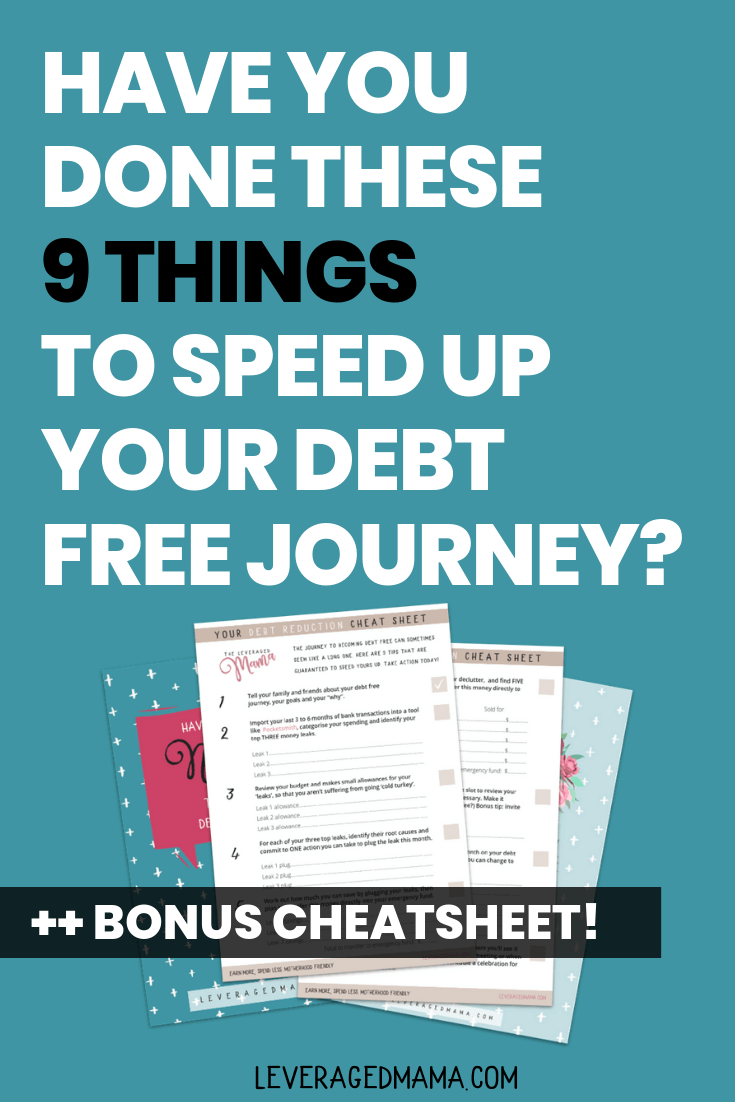 Have you done these 9 things to speed up your debt free journey? #debtfreejourney #debtfreedom #debtfreecommunity