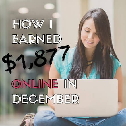 December 2018 Online income report. The l