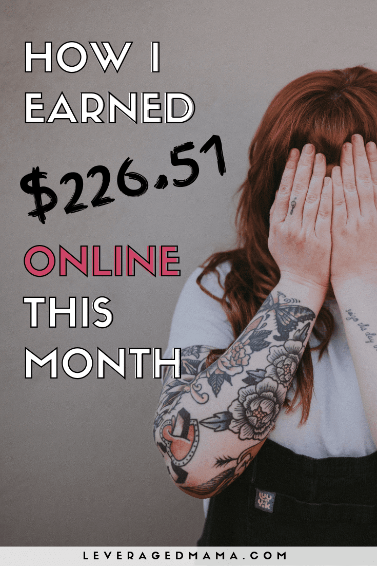 January 2019 online income report. The Leveraged Mama. Pinterest
