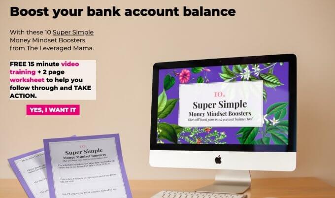 10 Money Mindset Boosters Screenshot.