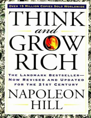 Book cover preview -  Think and grow rich by Napolean Hill.