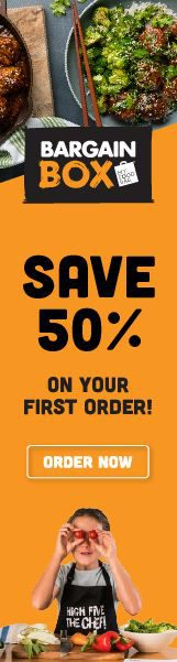 Save 50% on your first order from Bargain Box.
